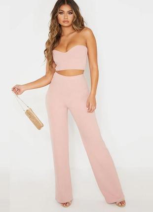 Новые персиковые штаны prettylittlething