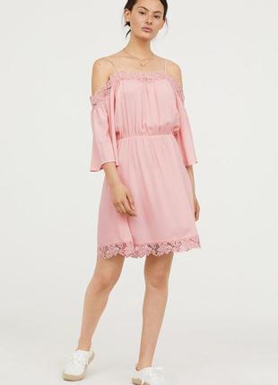 Нежное платье с кружевом h&m