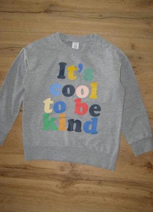 Lindex kids кофта свитшот 90 % хлопок 10% вискоза мальчику 6-7 лет рост 122