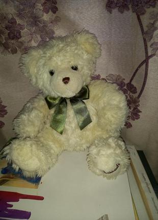 Harrods cream teddy bear.оригинальный меховой    медведь