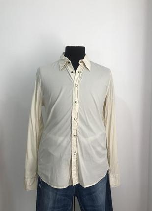 Рубашка l  j.c. rags на кнопочках с интересной спинкой