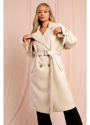 Пальто оверсайз oversize эко кожа