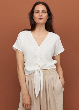 Льняная блуза h&m