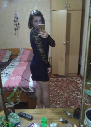 Короткое платье кружево
