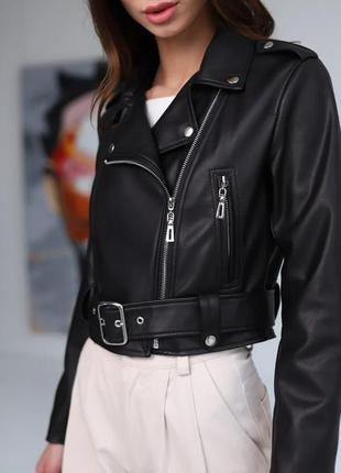 Курточка косуха женская чёрная, куртка демисезон❤