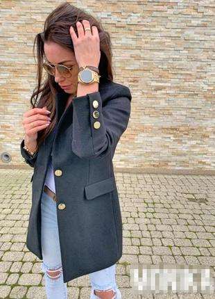 Пиджак пальто кашемир беж чёрный