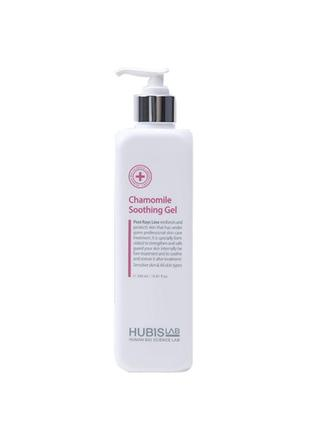Заспокійливий гель з ромашкою chamomile soothing gel 500ml hubislab. корея