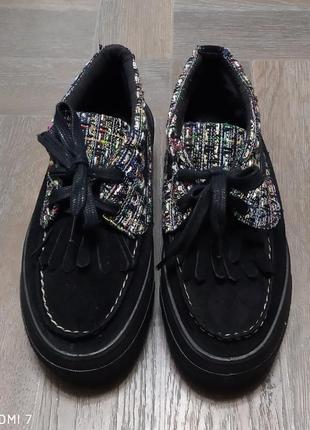 Слипоны на платформе, туфли, италия.