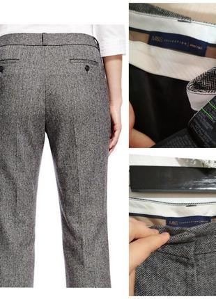 Фирменные теплые штаны в роскошную ёлочку супер состав шерсть кашемир
