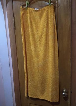 Новая с биркой ярко-желтая юбка на запах размер 42 евро из вискозы