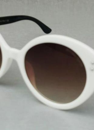 Bottega veneta стильные женские солнцезащитные очки коричневый градиент в белой оправе