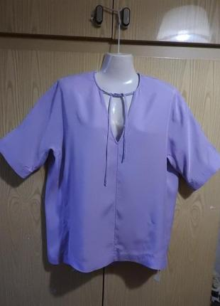 Cos кос блуза лавандовый цвет р 38 лиоцел блузка бавовна лавандовий колір