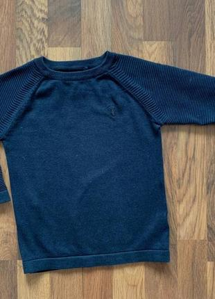 Стильный синий качественный свитер