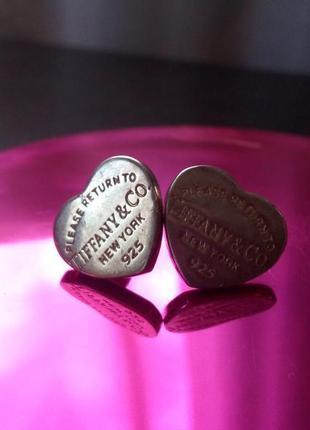 Tiffany серьги тиффани серебро 925 пробы