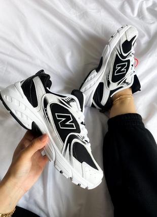Женские кроссовки new balance 530 black / white