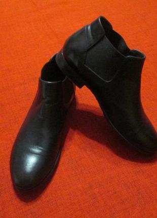 Кожаные женские  туфли ботинки челси pantanetti италия
