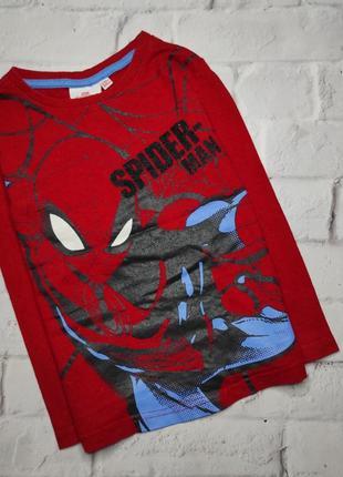 Красный реглан спайдермен человек паук на 3-4 года от primark