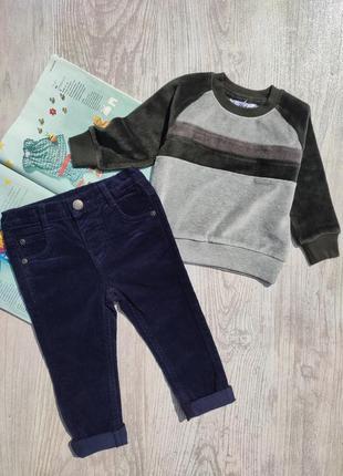 Велюровая кофта, свитшот, реглан, вельветовые штаны, брюки (цена за 1вещь, смотрите описание)