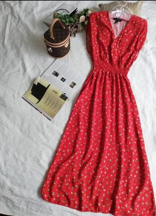 Сукня, сарафан міді new look натуральна тканина