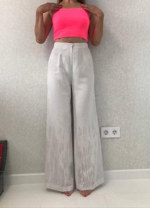 Нереально красивые брюки, сидят супер, лен