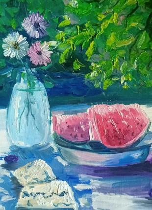 Картины импрессионизм миниатюры маслом цветы натюрморты пейзажи солнце лето