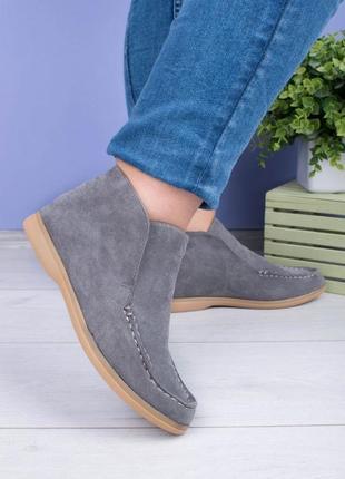 Женские ботинки без застежки