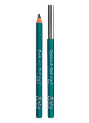 Бірюзовий олівець для очей, бирюзовый карандаш для глаз, melkior proffessional 11106.