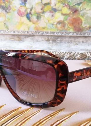Эксклюзивные брендовые солнцезащитные женские очки маска 2021 в черепаховой оправе