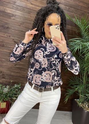 Блуза чёрная женская шифоновая шифон