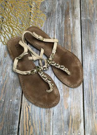 Lazanani кожаные босоножки вьетнамки сандали с камнями на ремешке