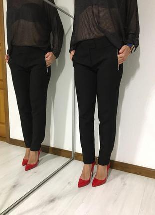 Тёплые и стильные, зауженные брендовые брюки karen millen