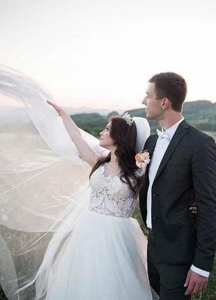 Весільна сукня + корона в подарунок