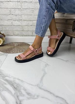 Босоножки сандалии замшывые