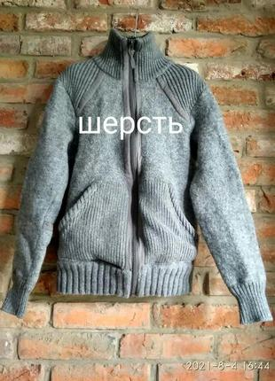 Шерстяная куртка свитер h&m l