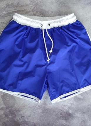 Синие мужские плавательные шорты для купания