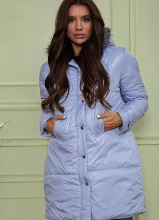 Женская удлиненная куртка на синтепоне