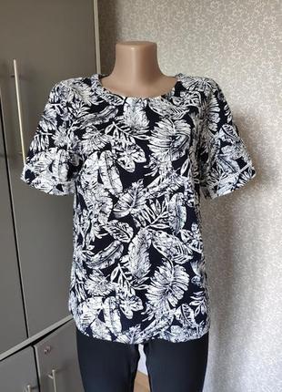 Красивая блуза футболка лен вискоза