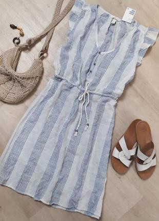 Чудесное лёгкое хлопковое платье в полоску