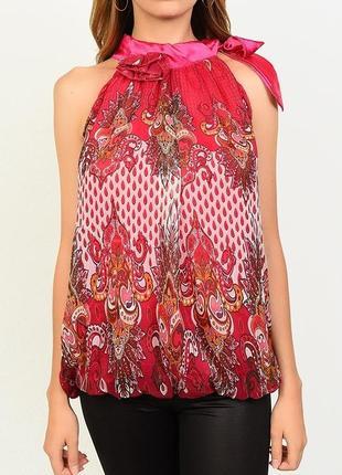 Блуза женская безрукавка красная 44-54 размер