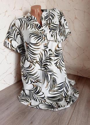 Платье сукня белое с принтомразмер 50
