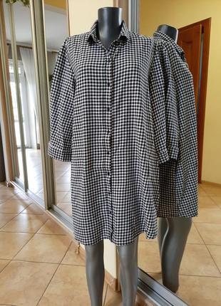 Удлинённая 💯%котоновая с карманами рубашка 👕, туника