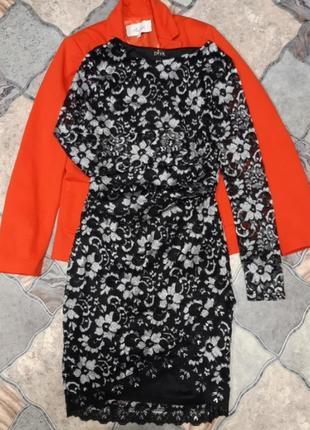 Платье размер:s стильное красивое гипюровое платье
