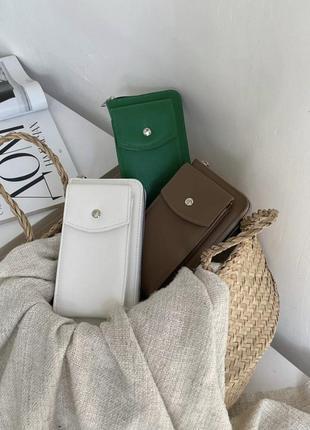 Новая женская кожаная сумка клатч