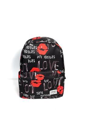 Рюкзак с принтом губы love