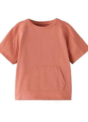 Стильная футболка zara 100% хлопок