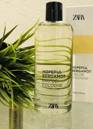 Парфюм zara 2020 hopeful bergamot eau de cologne