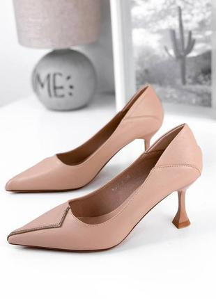 Туфли лодочки женские розовые пудровые