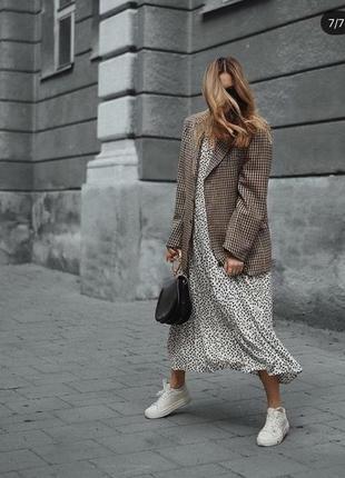 Платье в горох zara