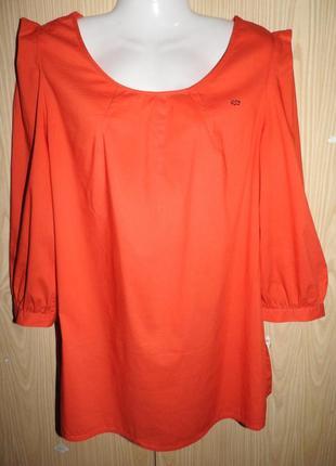 Escada блуза коралловая р 38 коралловый цвет блузка