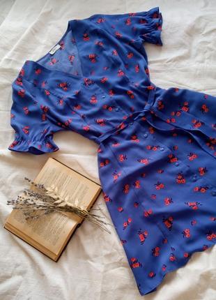 Міні плаття 💙у квітковий принт розмір s,m,l